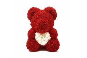 Мишка из роз Zupo Crafts 40 см Красный (1116971387118)