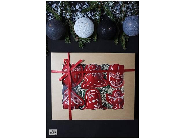 бу Набор елочных игрушек & quot; Рождественский & quot; бордовый №2 в Чернигове