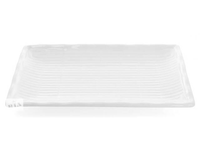 бу Набор 4 прямоугольные тарелки White City Бамбук 25х15 см для суши (белый фарфор) (psg_BD-988-125) в Киеве