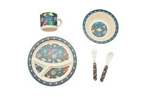 Набор детской бамбуковой посуды Eco-Friendly из 5 предметов (MH-2771-8) Космос