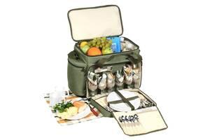 Набор для пикникана 6 персон Кемпинг HB6-520 Olive