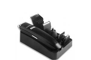 Набор для стрижки волос и бороды аккумуляторный 7в1 DSP 90208 USB триммер Черный (par_DSP 90208)