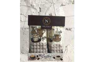 Набор кухонных полотенец Nilteks Time Coffee V02 35*50 2 шт