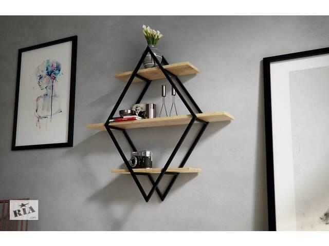 Навесная - Настенная Полка в стиле LOFT (Wall Shelf - 23)