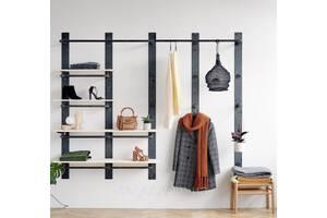 Навесная вешалка-стеллаж для одежды в стиле LOFT (NS-970000340)