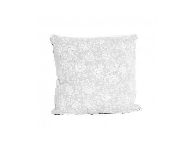 бу Наволочка декоративная white Rose c кружевом 40х40 см Прованс в Киеве