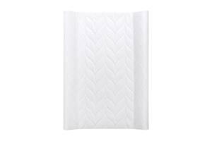 Непромокаемая мягкая пеленальная доска на кроватку Ceba baby Flora & Fauna Tallo Blanco 50x70 см., белая