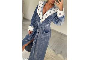 Новіночкі Класний халат велсофт, розміри 42-48