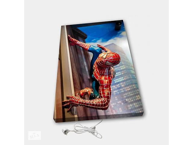 купить бу Обогреватель настенный электрический инфракрасный картина ионизация АртТепло Человек паук в Киеве