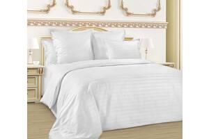 Однотонное постельное белье Aran CLASY Сатин Страйп Clasy 200x220 Евро Белый (1005964)