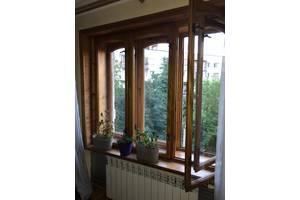 Окно деревянное качественное двойное 1750 х 1450