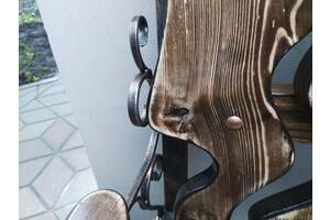 Оригинальная лавочка, скамейка, 2м, сосна + фигурные вырезки