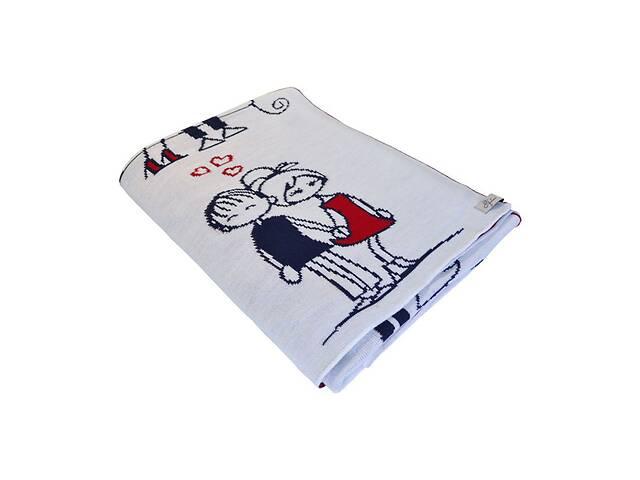продам Плед вязаный Прованс Любовь 120х165 см бу в Херсоні