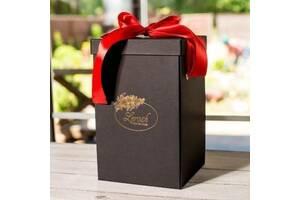 Подарочная коробка черная для розы в колбе Lerosh 27 см SKL15-279592