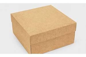 Подарункова коробка Крафт 20х20х10 см