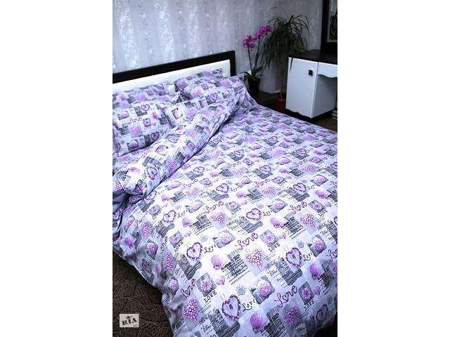 купить бу Пододеяльник ЕВРО Brettani 210х220 см Фиолетово-серый (10039) в Одесі