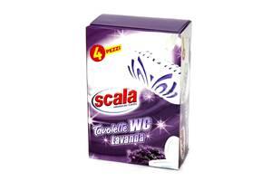 Подвески для унитаза с ароматом лаванды 4шт Scala Tavolette WC Lavanda 8006130504366