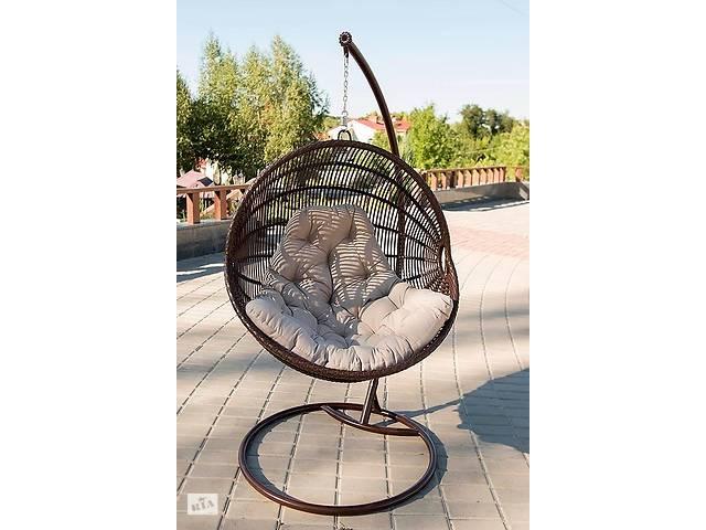 бу Подвесное садовое кресло качели кокон капля шар плетеное из ротанга Украинские Конструкции Ариэль / Ariel в Киеве