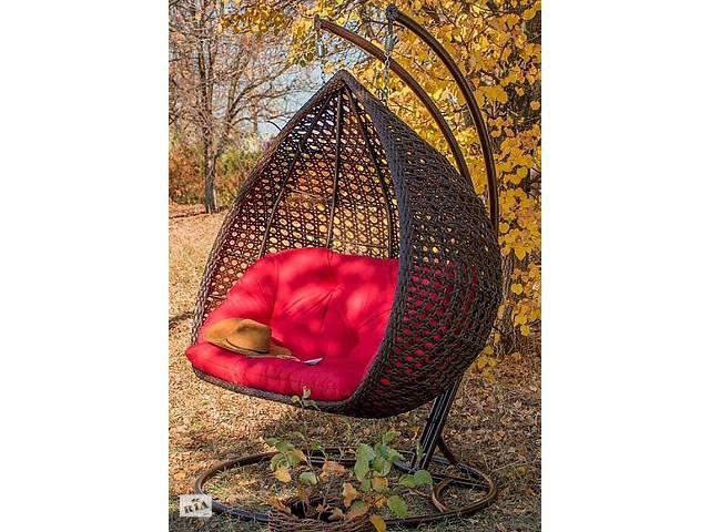 Подвесное садовое кресло качели кокон капля шар плетеное из ротанга Украинские Конструкции Дабл Премиум / Dabl- объявление о продаже  в Киеве