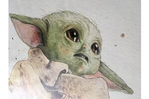 Постеры на стену Маленький Йода Звездные войны 70 см х 90 см