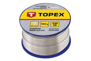 Припой оловянный Topex 60%, 0.7 мм, 100 г (44E512)