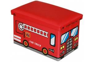 Пуф детский складной Пожарная машина