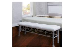 Пуф Металл-Дизайн Прикроватный Металл и пластик 115х50х34 Белый