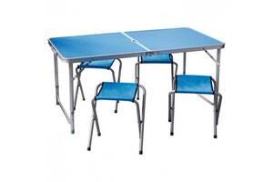 Раскладной туристический стол для пикника со стульями набор туристический в чемодане складной стол и 4 стула Easy Cam...
