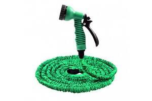 Садовый шланг для полива Xhose 30 м с распылителем green