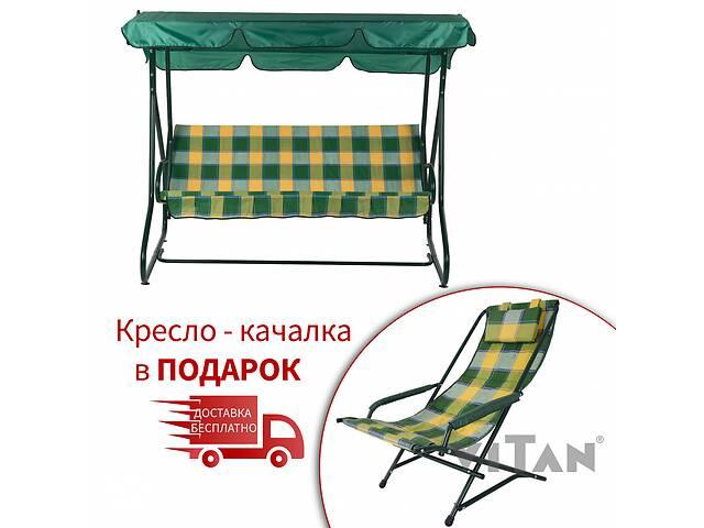 Садовый уличный раскладной 3х местный диван качель кровать Vitan / Витан Релакс бязь- объявление о продаже  в Киеве