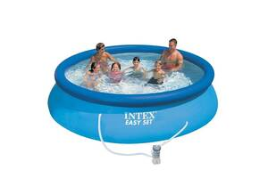 Семейный надувной бассейн Intex 28132, 366 х 76 см (2 006 л/ч)