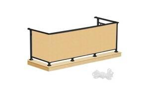 Ширма для балкона балконный занавес Springos 1 x 7 м Biege SKL41-277971