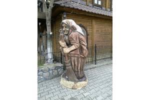 Скульптура из дерева Баба Яга 2 метра