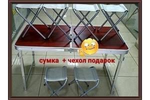 Стол УСИЛЕННЫЙ для пикника + 6 стульев