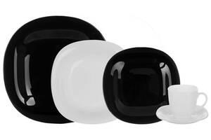 Столовый набор Luminarc Carine Black&White 30 предметов на 6 персон (psg_LUM-N1500)
