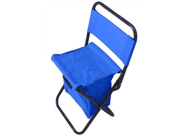 купить бу Стул складной туристический с сумкой для рыбалки Кенгуру MH-3071 27х22х43 см Голубой (gr_014600) в Киеве