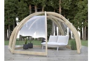 Современная деревьев& # 039; яна беседка Woodigloo со стеклом, купол