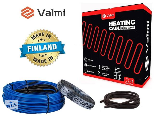купить бу Тепла підлога Valmi 2 м²-2,5 м² / 400 Вт (20м) тонкий двожильний нагрівальний кабель 20Вт/м під плитку в Києві