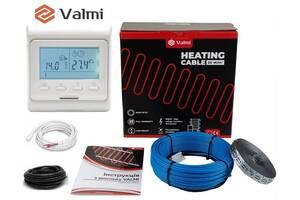 Тепла підлога Valmi 7 м²-8,8 м² / 1400 Вт (70м) тонкий двожильний нагрівальний кабель 20Вт/м з терморегулятором E 51