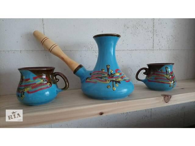 Турка и чашки  керамика- объявление о продаже  в Львове