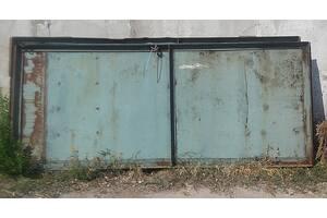 Ворота гаражные, металл, Б/У