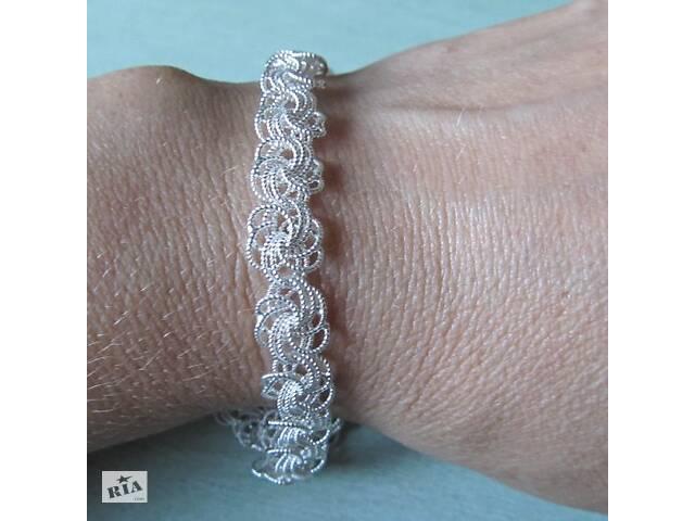 продам Браслет серебряный плетения роза. серебро 925 пробы. ручное плетение бу в Харькове