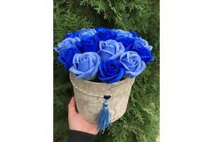 Мильні шикарні троянди 19шт