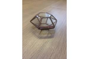 Шкатулка шестигранна, скляна під обручки