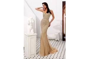 Свадебное платье , вечернее платье , выпускное платье , платье рыбка , облегающее платье в стразах