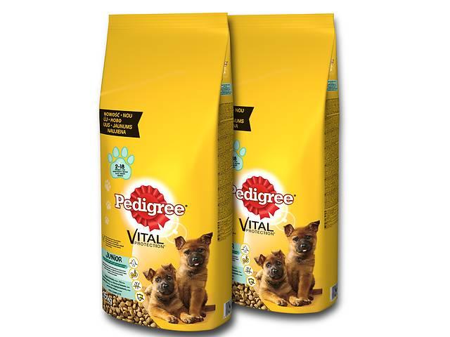продам Корм для молодой крупной породы собак Pedigree 15 кг X2 (30 кг) бу в Львове