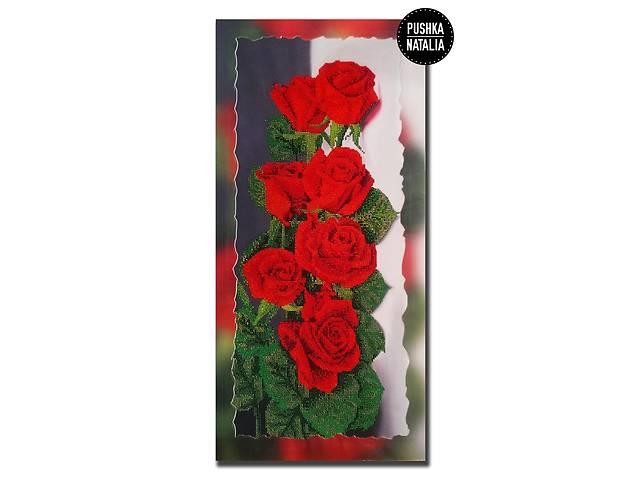 продам Большая картина вышитая бисером Розы от Пушки Натальи 34х64 см бу в Киеве