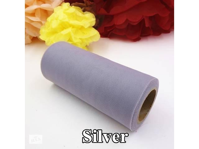 Фатин серого цвета рулон 15 см х 22,5 м- объявление о продаже  в Черновцах
