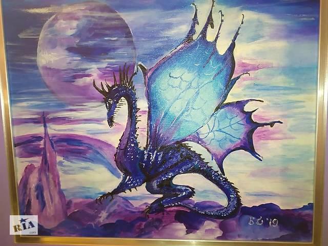 продам Картина маслом дракон бу в Кропивницькому (Кіровоград)
