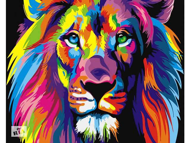 """купить бу Картина по номерам. Brushme """" Радужный лев """" GX8999  в Украине"""